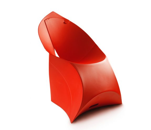 Flux Folding Chair Red