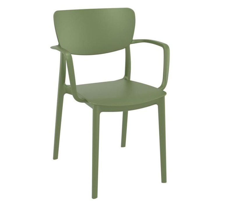 Nico Outdoor Arm Chair - Olive Gree