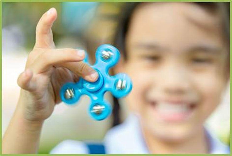 Fidget Spinners banned from school Desks