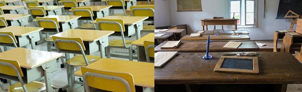 The evolution of the school desk