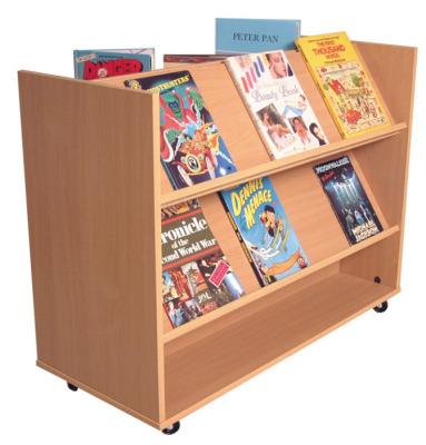 1 Side Flat/ 1 Side Angled Book Trolley