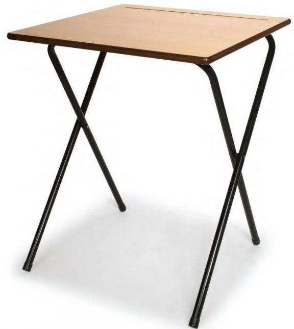 20 MDF Exam Desks & Trolley Bundle Set