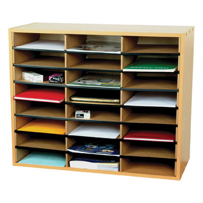 24 Section Beech Literature Organiser
