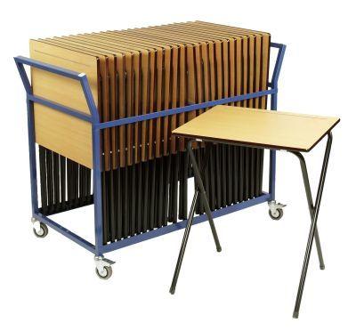 25 x Easi Exam Desks & Trolley