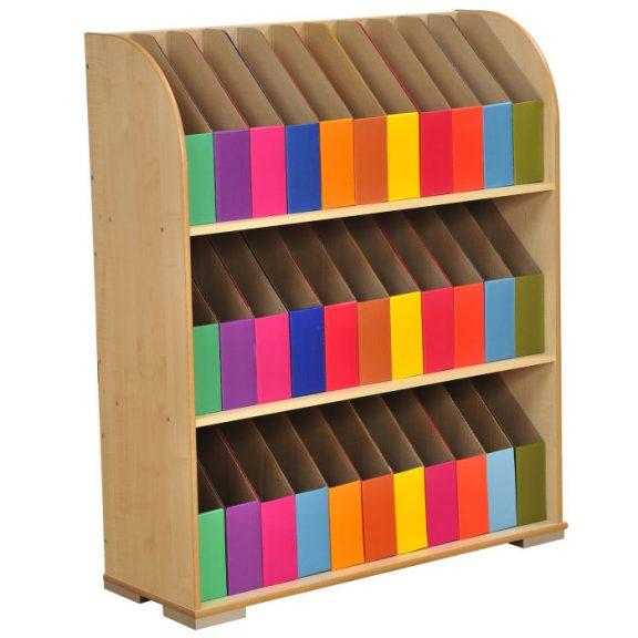 3 Shelf Maple Foolscap Bookcase