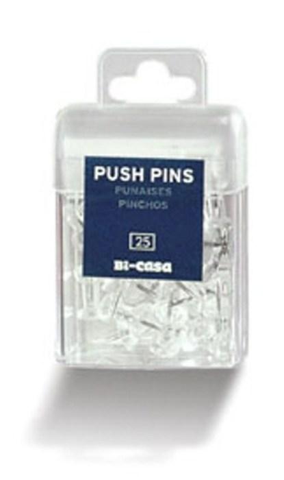 25 x Transparent Noticeboard Pins