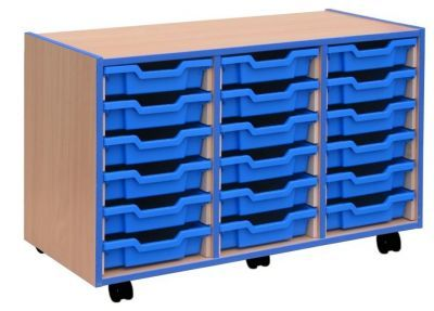 All Sorts Stackable 18 Shallow Tray Unit