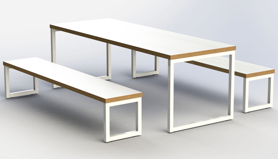 Axis Loop Frame Bench Dining Set