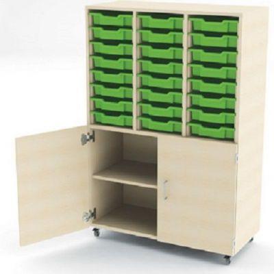 Aztec Combi Store 24 trays with Cupboard Below