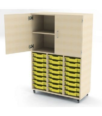 Aztec Combi Store 24 Tray Unit Cupboard Above