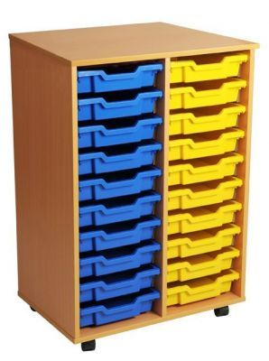 Aztec Double 10 High Mobile Tray Storage