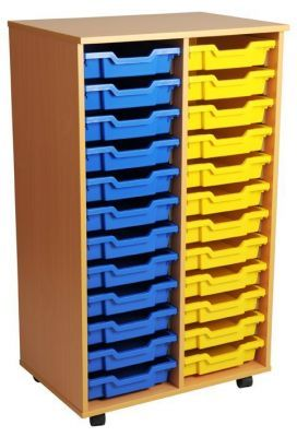 Aztec Double 12 High Mobile Tray Storage