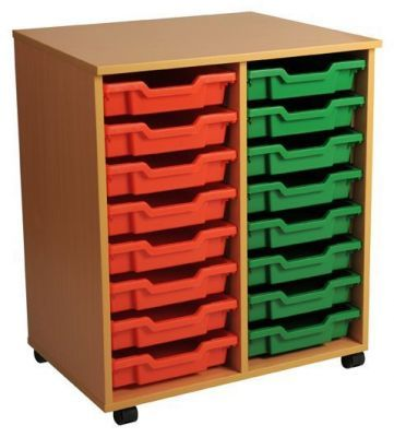 Aztec Double 8 High Mobile Tray Storage