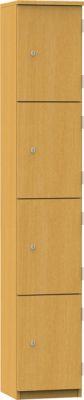 Aztec Four Door Wooden Locker