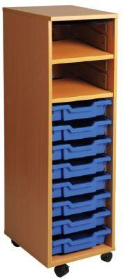 Aztec Single Column Art Storage with Upper Shelves