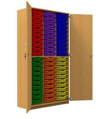 Aztec Storage Cupboard with 60 Trays