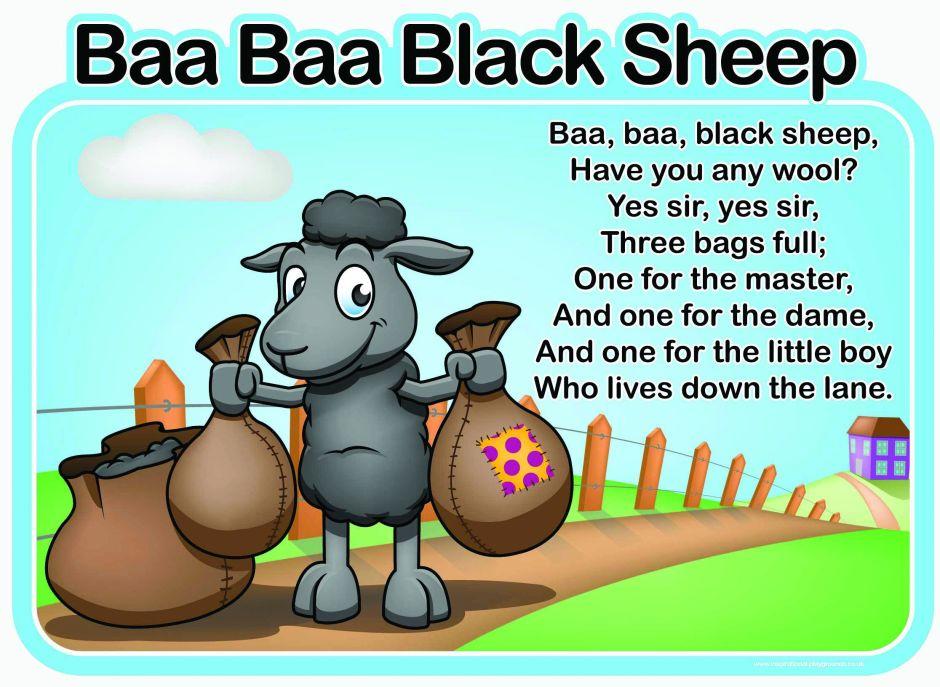 Baa Baa Black Sheep Sign