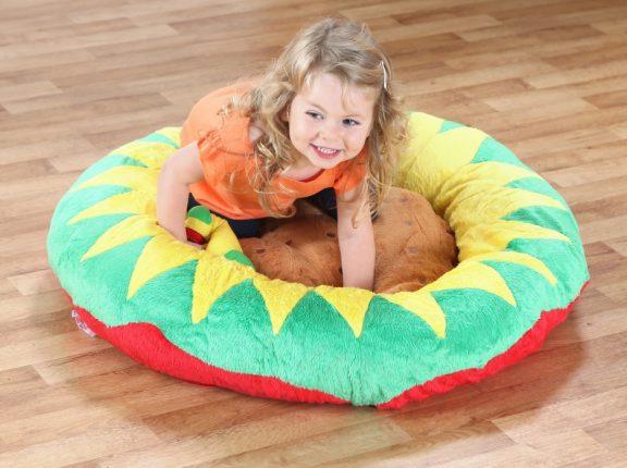 Back to Nature Petal Sunflower Giant Cushion