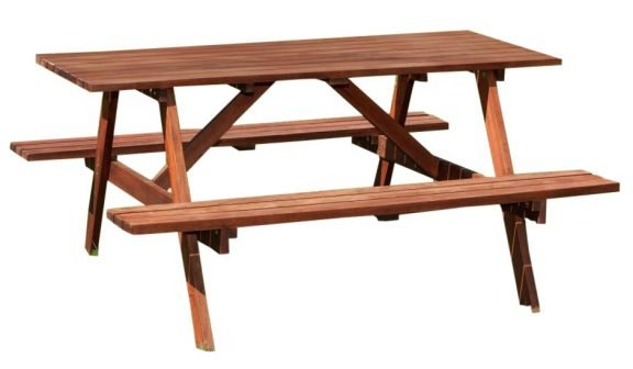 Bridford Six Seater Outdoor Picnic Table