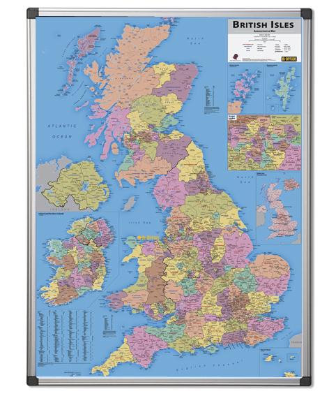British Adminstrative Map