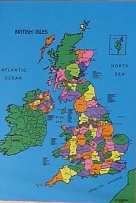 British Isles Map Cloth