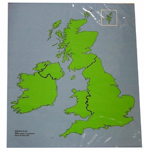 British Isles Outline Map