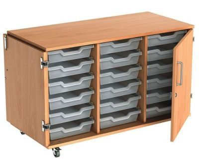Busybase Mobile Tray Storage Cabinet