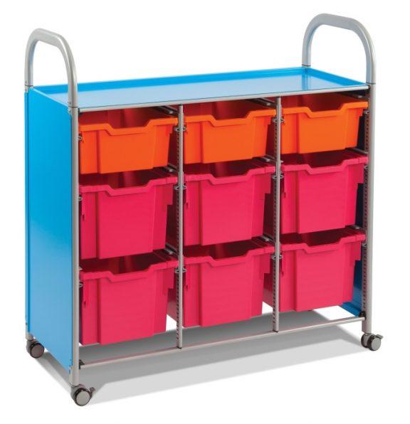 Callero Storage Trolley with Deep Trays & Extra Deep Trays