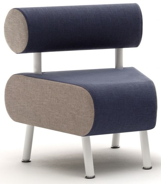 Carousel Single Wedge Bench and Back