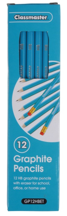 Classmaster HB Graphite Pencils Eraser Tipped