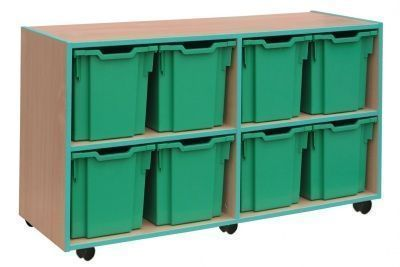 Coloured Edge 8 Jumbo Tray Storage