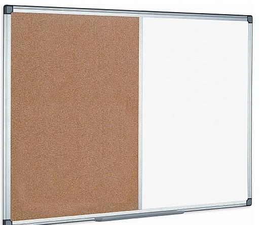 Combination Magnetic Whiteboard & Corkboard