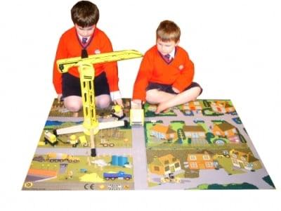 Construction Site Playmat