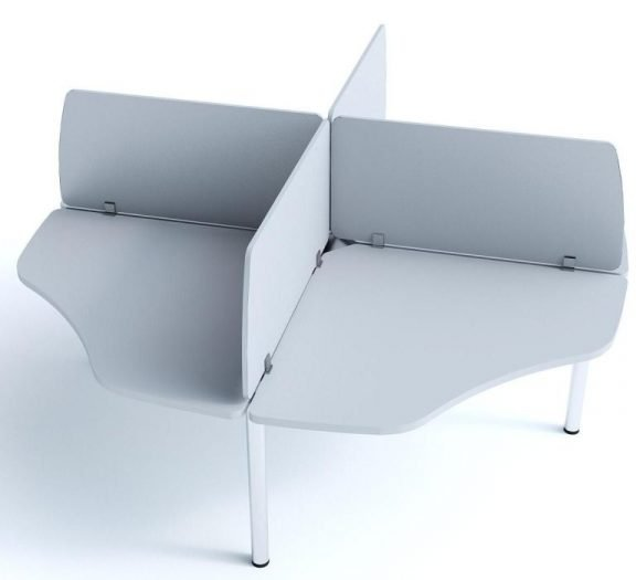 Cool 200 4 Way Cluster Desk with MFC Screens