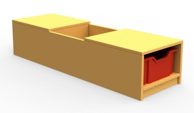 Curve Book Bench Unit