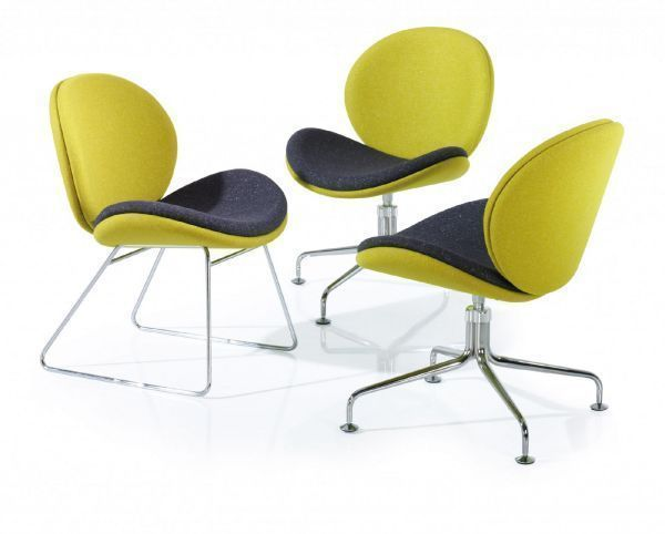 Cuve Reception or Break Out Chair with Sled Base