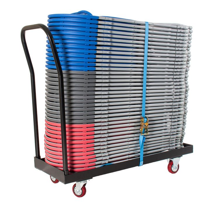 Disport 40 Fold up Chairs & Flatbed Trolley
