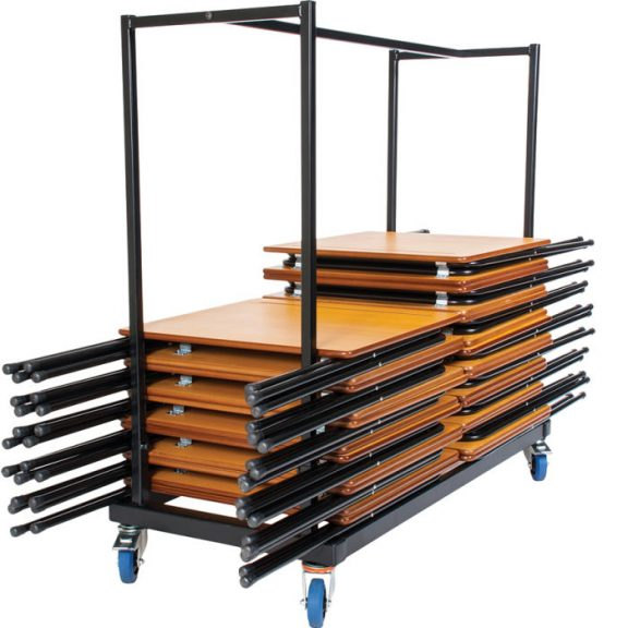 Disport 40 Premium Exam Desks & Horizontal Trolley