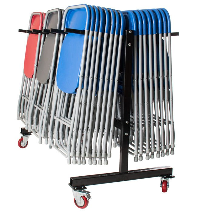 Disport 60 Folding Chairs & Hanging Trolley