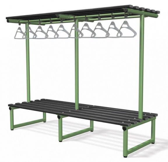 CL Double Side Bench with Overhanging Rail