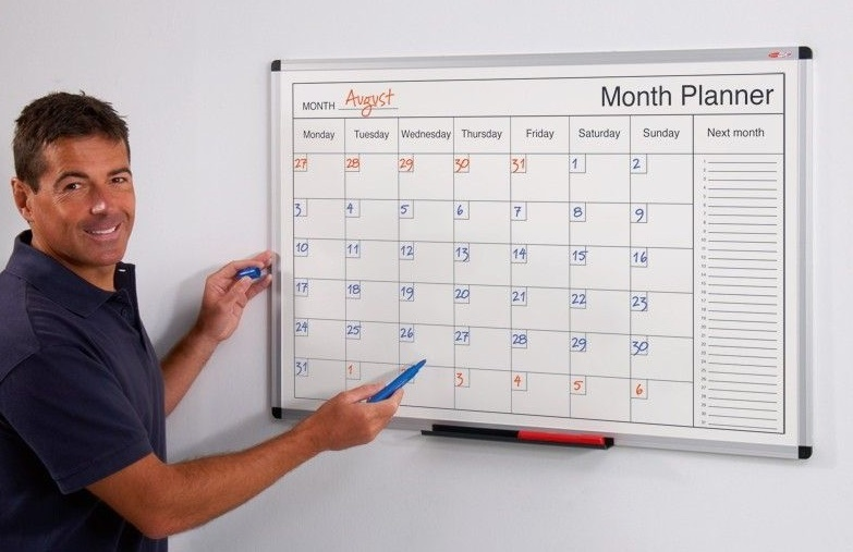 Dry Wipe Monthly Planners