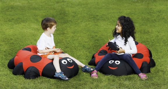 Duel Giant Ladybird Outdoor Cushion