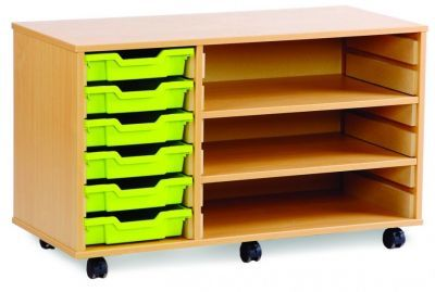Classroom Storage Tray and Shelf Unit