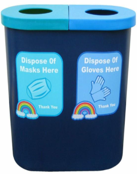 Ejecto Twin PPE Disposal Bin