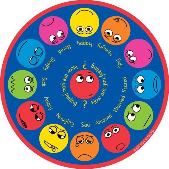 Emotions Interactive Circular Placement Carpet