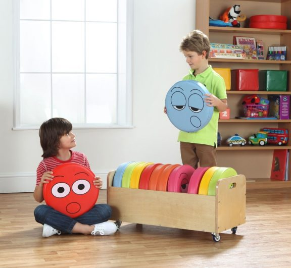 English Emotions Cushion Pack of 12 with Tuf2 Trolley