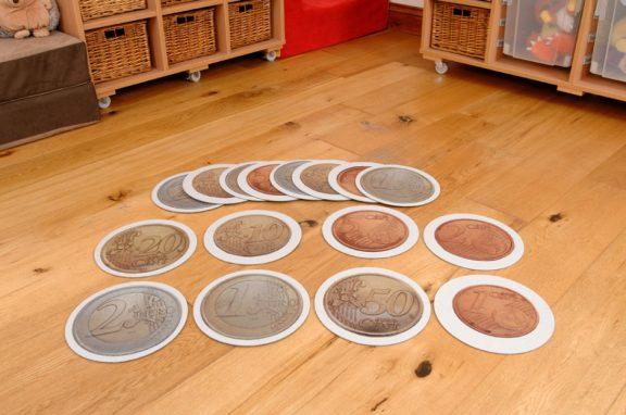 Euro Coins Tiles