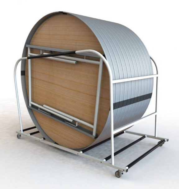 Express Round Folding Table Trolley