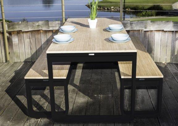 Felix Outdoor Folding Bar Height Dining Set  - Bamboo
