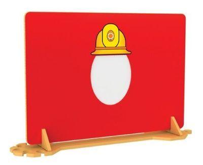 Fireman Hat Mirror Divider